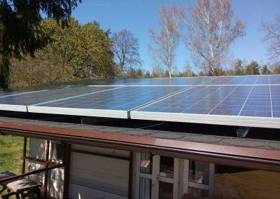 Instalacja fotowoltaiczna off-grid 2 kWp w Trzebulach