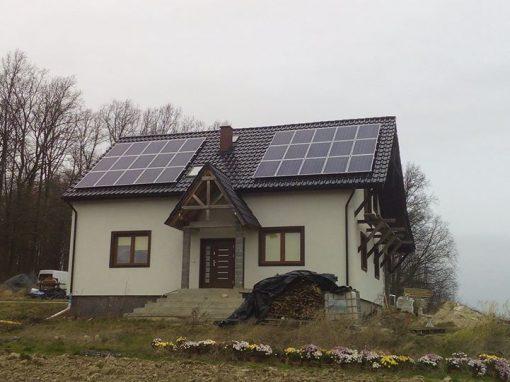 INSTALACJA FOTOWOLTAICZNA 7,5 kWp SOLNIKI.