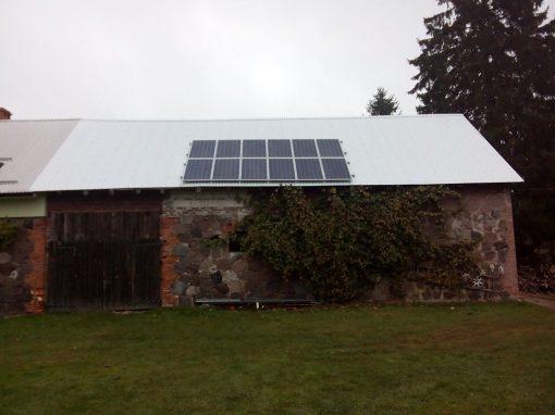 INSTALACJA FOTOWOLTAICZNA 3 kWp GOLĘSZYN.