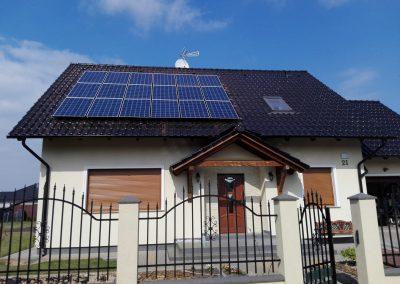 INSTALACJA FOTOWOLTAICZNA 4,95 kWp Zielona Góra-Ochla.