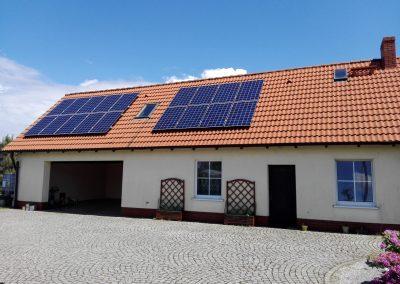 INSTALACJA FOTOWOLTAICZNA 10,08 kWp Lubieszów.