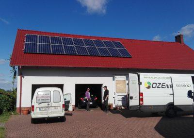 INSTALACJA FOTOWOLTAICZNA 10,08 kWp OTYŃ.